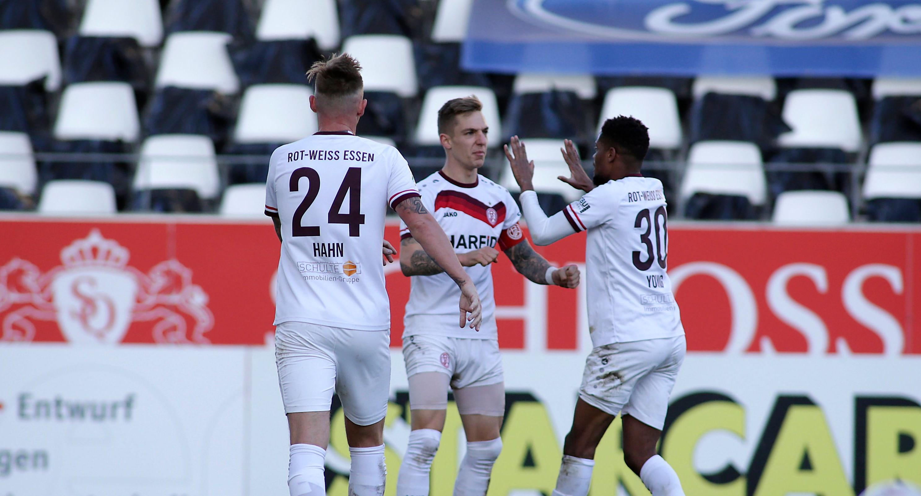 Der Kapitän mit dem Dosenöffner: Kehl-Gomez bringt die Rot-Weissen nach 34 Minuten in Führung. (Foto: Endberg)