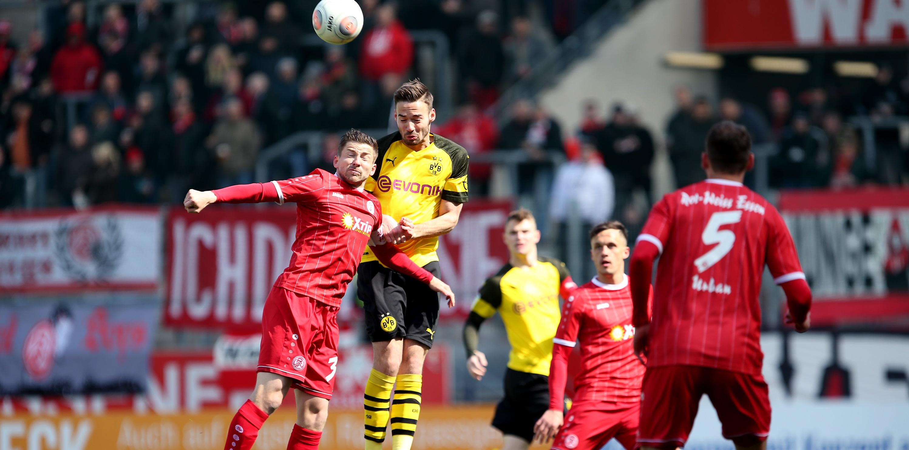 Mit 0:0 trennte sich die U23 von Borussia Dortmund und Rot-Weiss Essen. (Foto: Endberg)