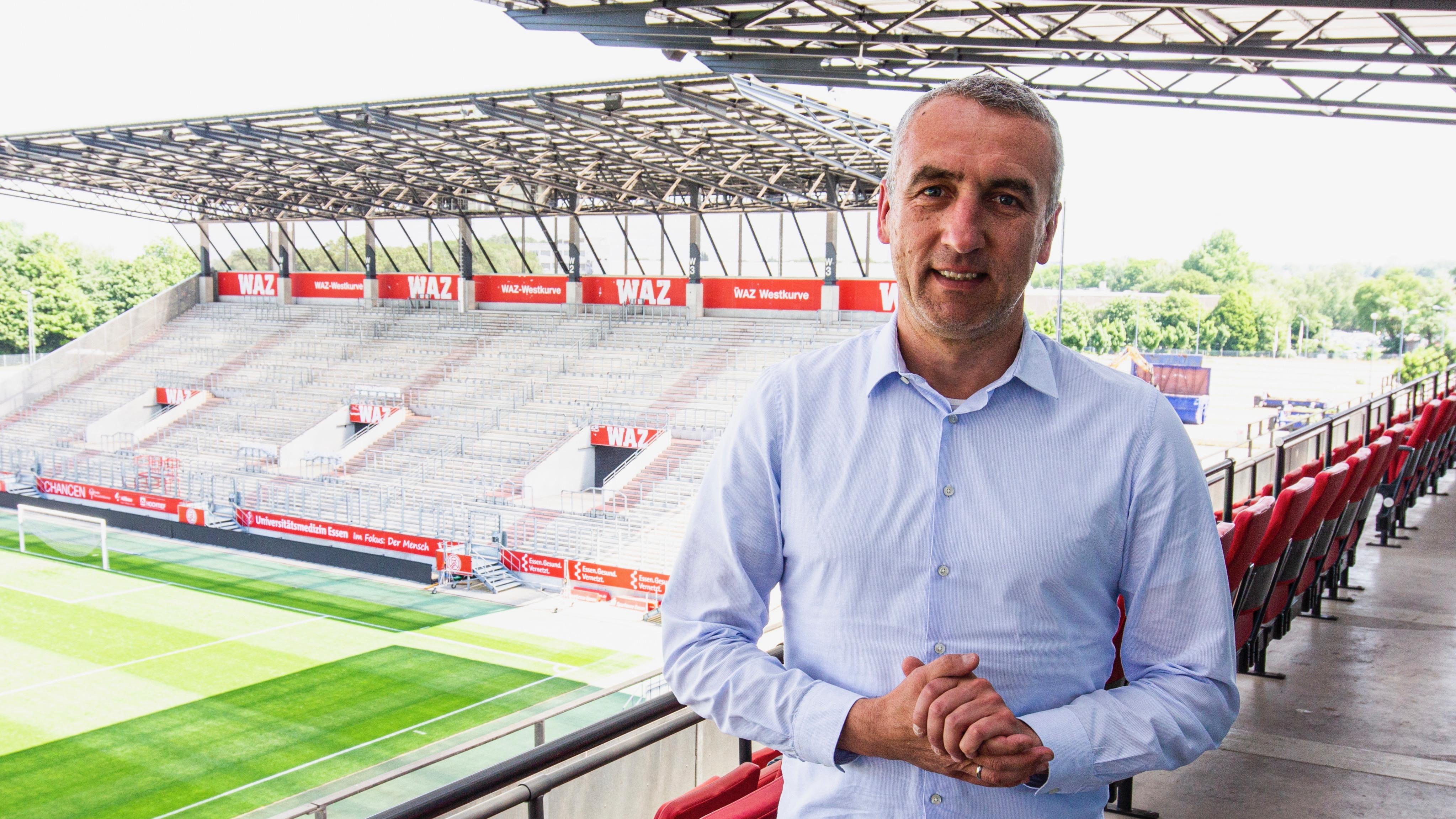 """Marcus Uhlig hätte auch gegen Münster gerne vor Zuschauern gespielt: """"Wenn Hygienekonzepte augenscheinlich funktionieren, dann sollten sie meiner Meinung nach auch bei Fußballspielen … weiter zur Anwendung kommen dürfen."""" (Foto: RWE)"""