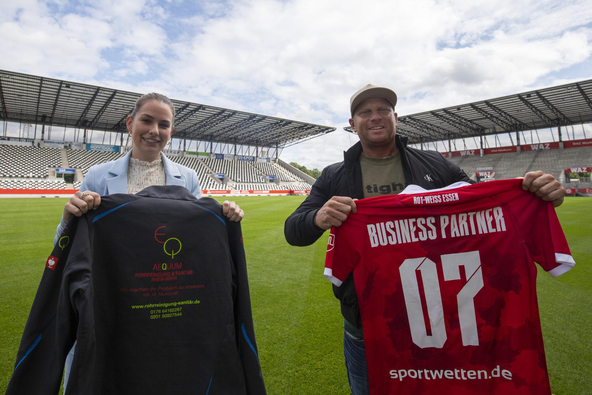 AEQUUM Rohrreinigung RheinRuhr wird Business Partner – Rot-Weiss Essen