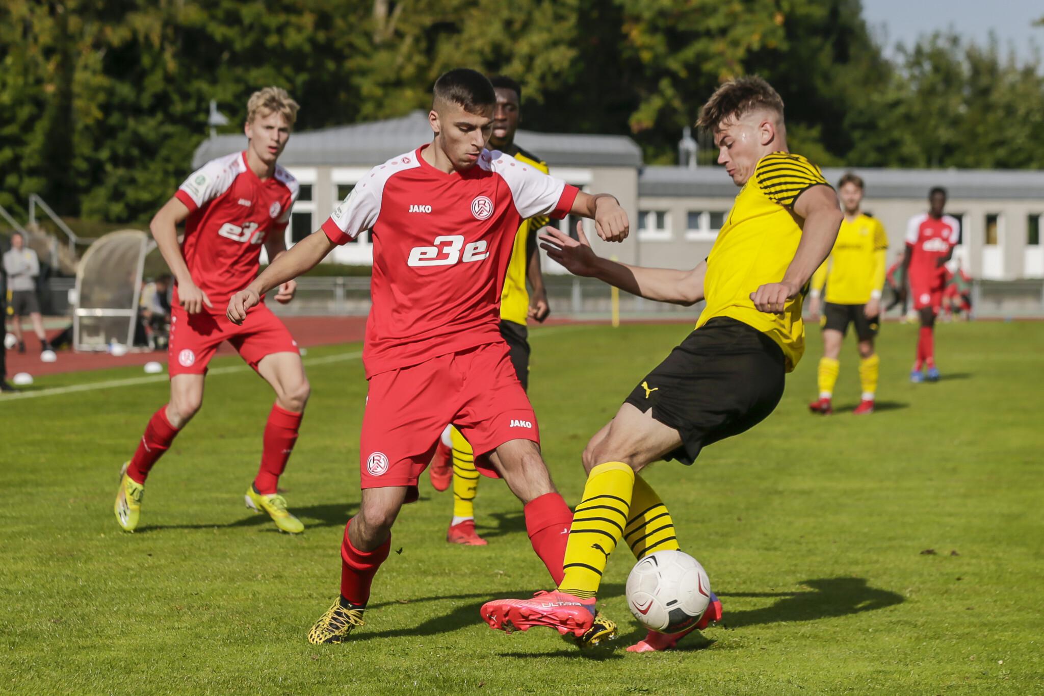 Am Ende reichte es für RWE nicht gegen Borussia Dortmund.